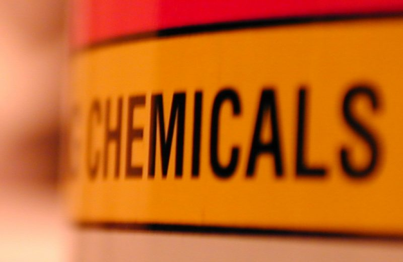 Chemical safety warning label