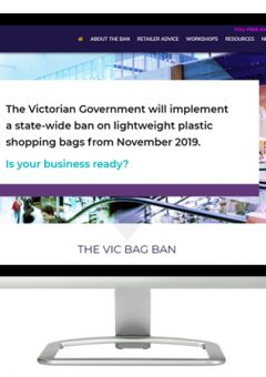 VIC Bag Ban website