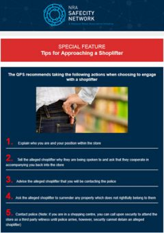 Tips for approaching a shoplifter