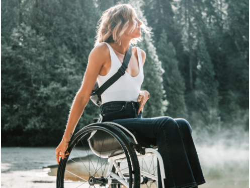 Disability woman in wheelchair