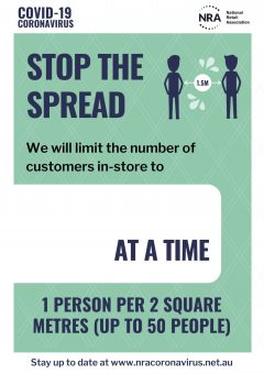 Covid-19 Campaign Poster - Customers per square metre