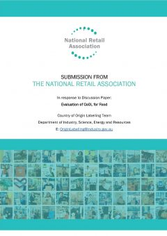 Submission: Evaluating Australia's Country of Origin Labelling Discussion Paper (September 2020)