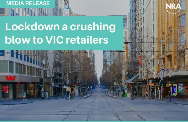 VIC lockdown to be a crushing blow to the state's retailers. NRA CEO Dominique Lamb said that it's unfortunate news after Victoria made record Christmas sales and retailers were just getting back up on their feet following the two lockdowns that occurred last year in the state.