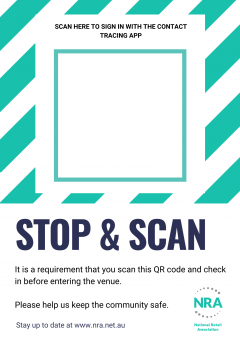 Covid-19 Campaign Poster - QR Code Poster Template