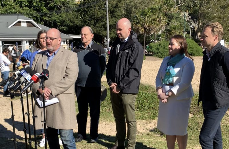 NRA Director of Policy David Stout announcing the NSW plastics strategy with Premier Gladys Berejiklian and Minister Matt Kean